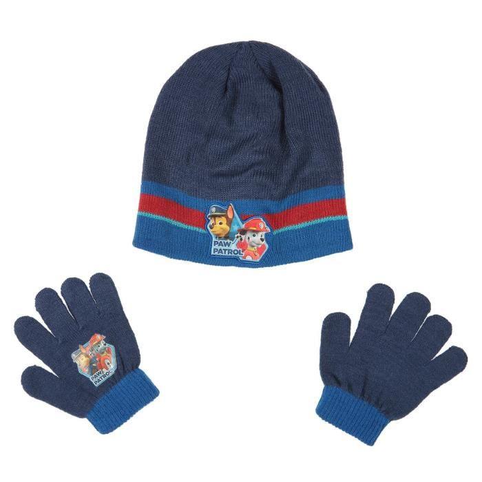 19b9061dc0fb9 PAT'PATROUILLE Lot de Bonnet + gants - Enfant Garçon - Acrylique ...
