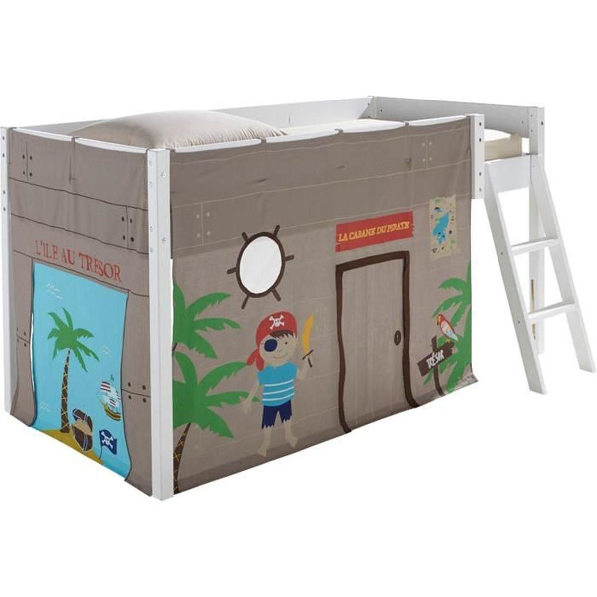 Pirate Tente pour lit enfant mi-haut (90x190 ou 90x200cm) - Achat ...