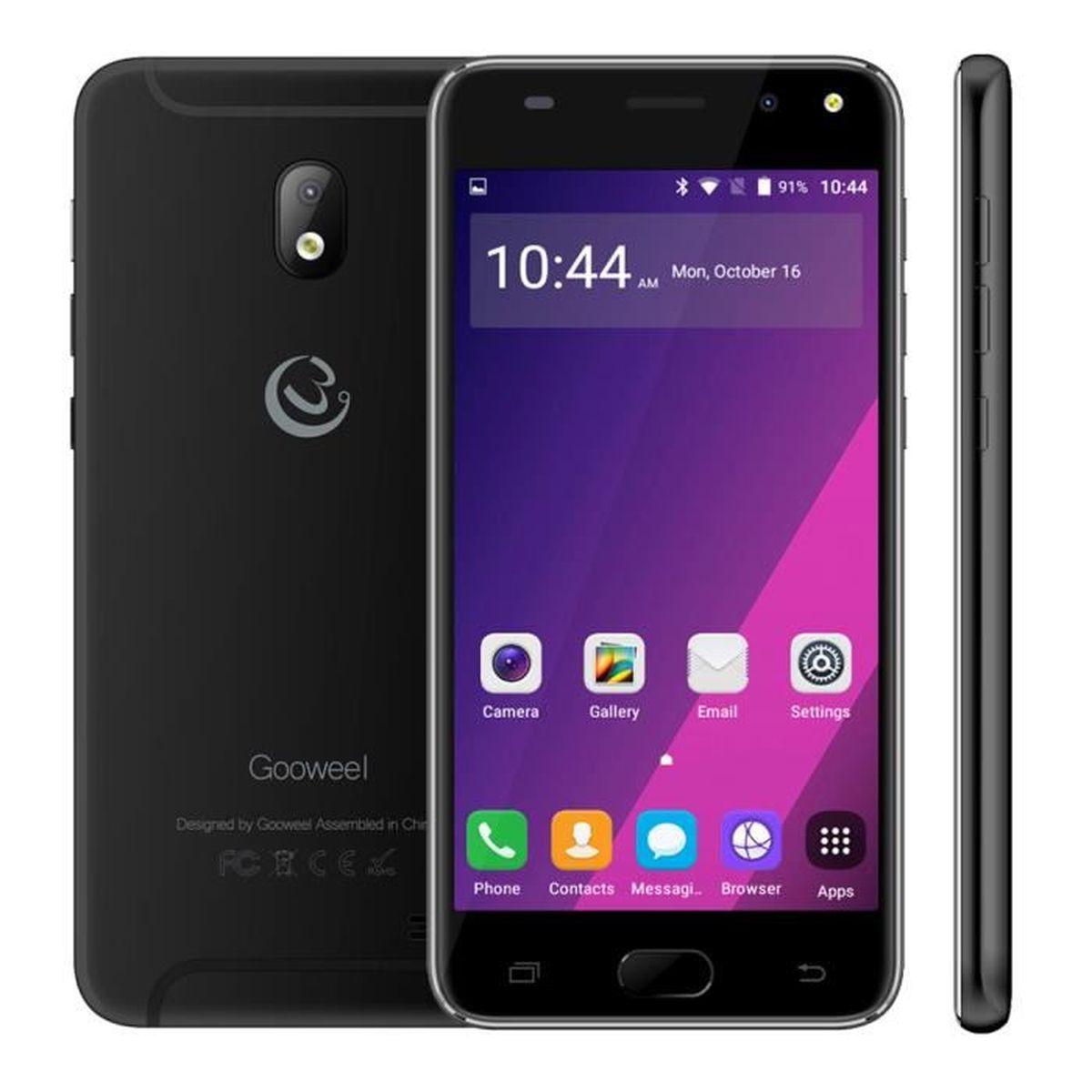 Téléphone portable Gooweel S7 Téléphone portable Quad Core 5.0 Pouce