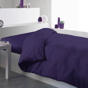 HOUSSE DE COUETTE SEULE Housse de couette Unie 140x200cm Deep purple 100%