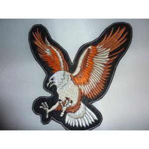 ACCESSOIRE CASQUE grand patch dorsal aigle en vol marron 21 cm x 25