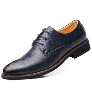 DERBY Minetom Homme Chaussures à Lacets en Cuir Derby Ma