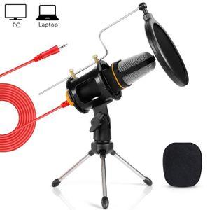 MICROPHONE - ACCESSOIRE Tonor Microphone à Condensateur 3,5mm Jack Profess