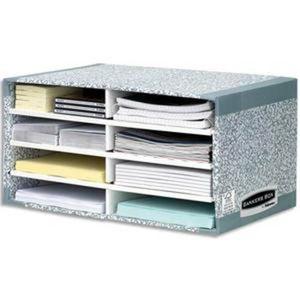 TRIEUR - PARAPHEUR Module de tri carton 8 compartiments gris
