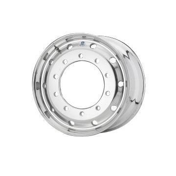 Roue ALCOA en aluminium forgé pour Poids Lourd - 22.5x11.75 déport 0 mm - Perçage 32 mm - Capacité 5.000 kg - Finition Brossée