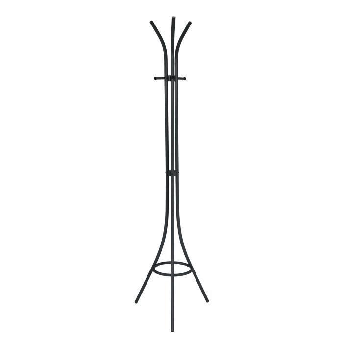 Porte manteaux Kasmir 49x176x49 cm noir