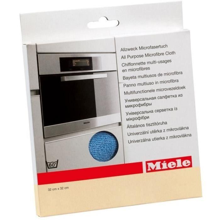 MIELE 7006550 Chiffon multi-usages 100% microfibre Enlève empreintes de doigts et salissures légères
