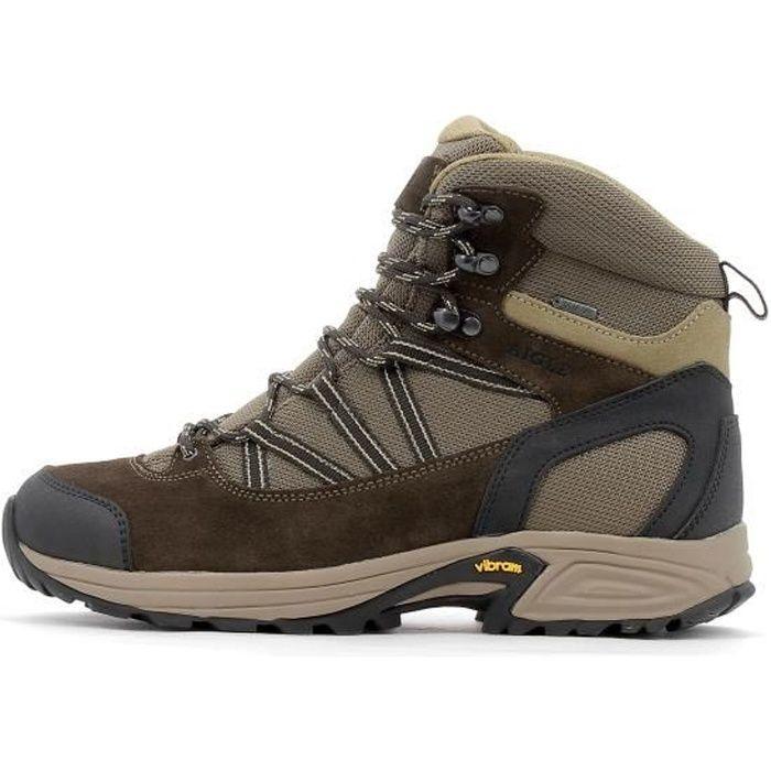 AIGLE Chaussures randonnée Gore-Tex® Mooven Mid GTX - Homme - Marron foncé et beige