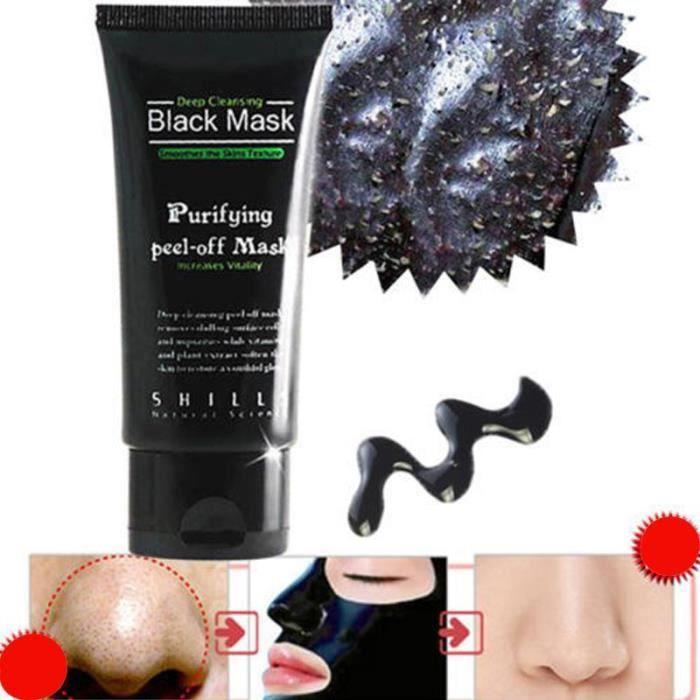 bon out x prix bas beaucoup de choix de Compères Masque Noir Purifiant Peel Off Blackhead Nettoyage en profondeur  Produits de beauté