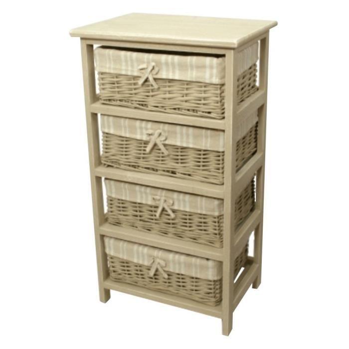 meuble colonne de rangement 4 tiroirs achat vente petit meuble rangement meuble colonne de. Black Bedroom Furniture Sets. Home Design Ideas