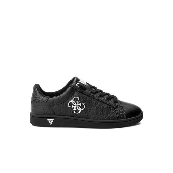 a9c3ca0c457 Baskets Logotées Flbys1 - Guess Jeans Noir Black - Achat   Vente ...