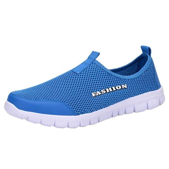 362e3bf21f578c Hommes légers baskets maille respirante chaussures occasionnelles marchant  des chaussures sport en plein air qe459