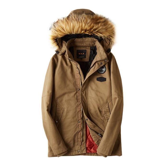 Fourrure Veste En Fashion Capuche Fausse Boutique Epais Hiver Coton mi Blouson De Hugo Chaud longue Homme 40WwqzO7B