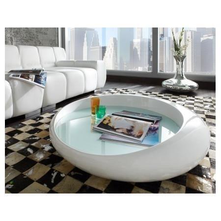 Table Basse Design Blanc Laque Cascada Achat Vente Table Basse