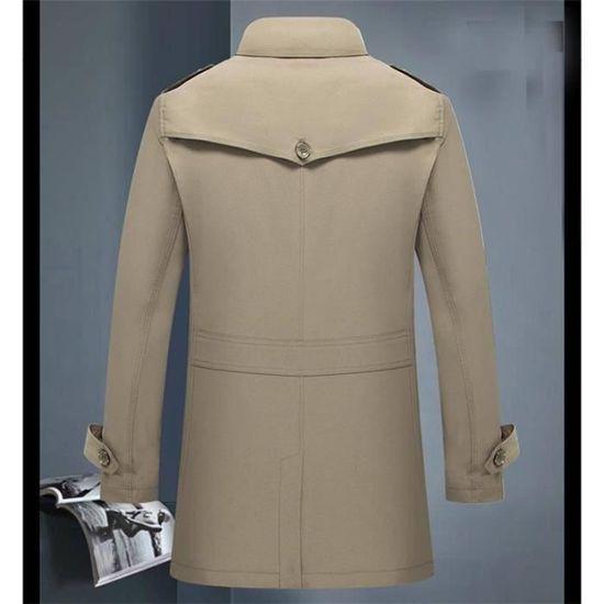 Top Col Longue Vêtements Revers Mi Mode Homme Élégant Chic Veste YawXTX