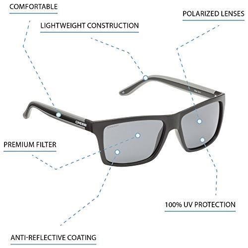 Cressi Premium Lunettes de Soleil Polarisées Pour Homme 100% Anti UV Avec étui rigide(Noir/Jaune Lentille - Unisexe)