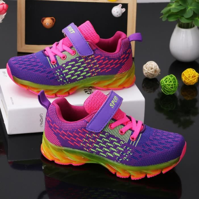 Basket enfantchaussures Lesgarçons et filles occasionnels chaussures de sport chaussures de course -Violet