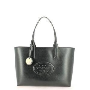 SAC SHOPPING Sac Cabas Emporio Armani Logos Noir ... 382138b8901
