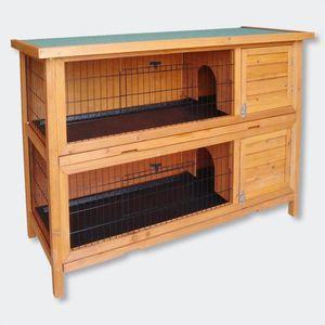 CLAPIER Clapier double / Cage à lapin en bois / Cabane pou