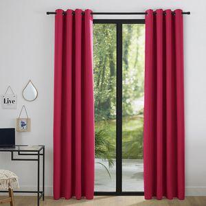 RIDEAU Lot de 2 rideaux occultant rouge 140 x 260 cm