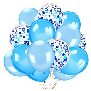BALLON DÉCORATIF  Howaf 40 Pièces Ballons Confettis Bleu et Blanc La