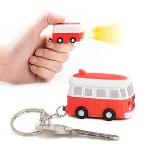 PORTE-CLÉS Van porte-clés avec son et lumière. Couleur rouge.