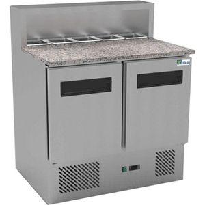 ARMOIRE RÉFRIGÉRÉE Table réfrigérée à pizza 2 portes