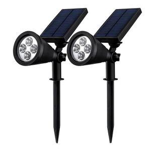 PROJECTEUR EXTÉRIEUR BLEOSAN Lot de 2 Projecteurs Solaires LED Extérieu