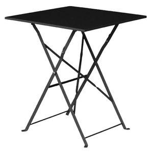 MANGE-DEBOUT Boléro Carré noir Pavement style Table acier