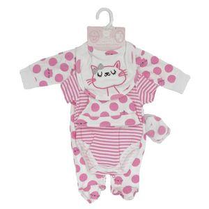 6a7151dec78d1 COFFRET CADEAU TEXTILE Ensemble cadeau de naissance bébé fille pyjama bod