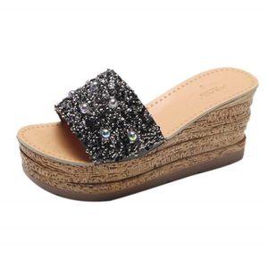 ESCARPIN Dégagement! Chaussures Compensées Couleur Unie Fem