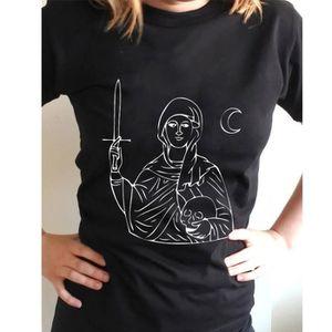 à bas prix 50% de réduction très loué Tee shirt impression unisexe style grunge gothique punk grunge style col  rond mort cool