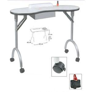 BUREAU  table manucure pliable diego avec tiroir et sac