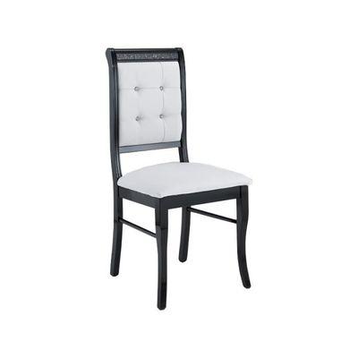 Lot De 2 Chaises PRESTIGE Blanc Et Noir