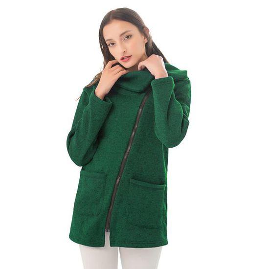 Tops Vert Sweatshirt Manteau Casual Blouson Capuche Hauts Pullover À Hoodie Blouse Parka Hiver Femme Veste Sport Jumper Fwwf7