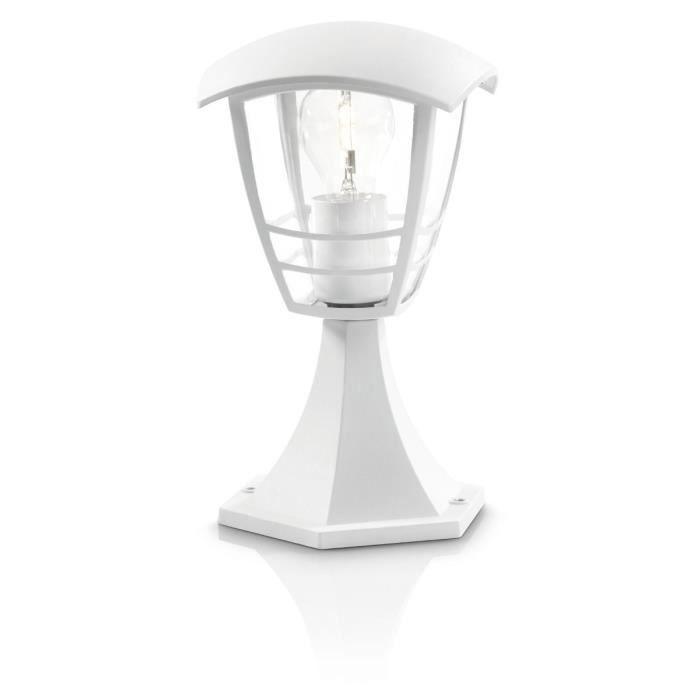 PHILIPS Creek Lampe de jardin - Blanche - 1x60W - 230V