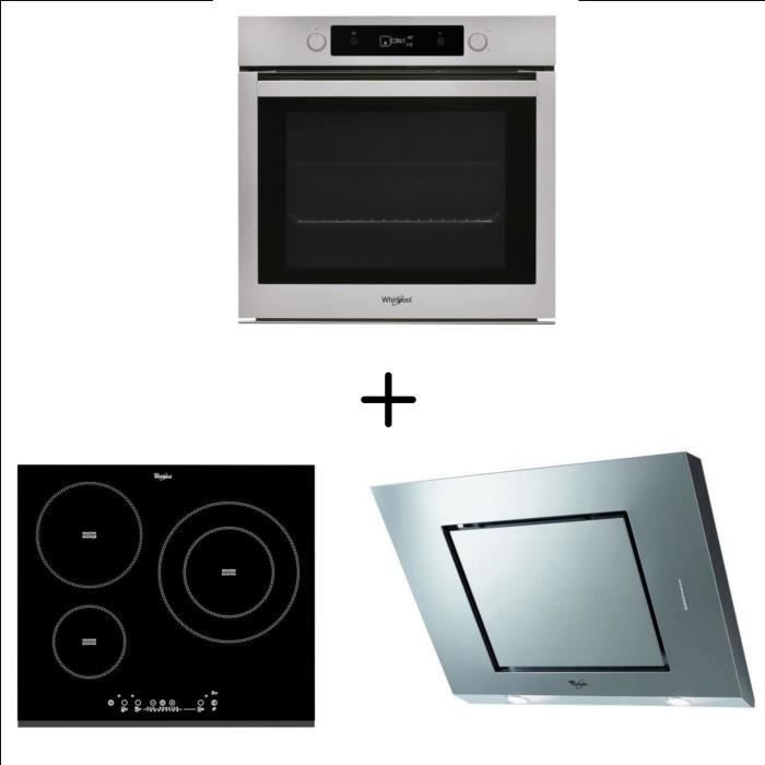 WHIRLPOOL OAKP9 555 PIX - Four électrique + WHIRLPOOL ACM860BF-Table induction + WHIRLPOOL AKR808/1I