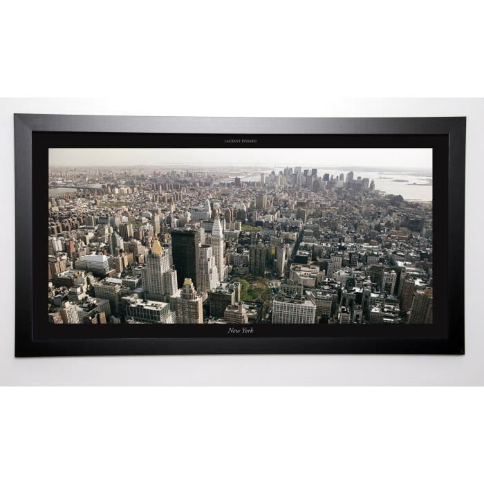 PINSARD LAURENT Image encadrée New York 57x107 cm Noir