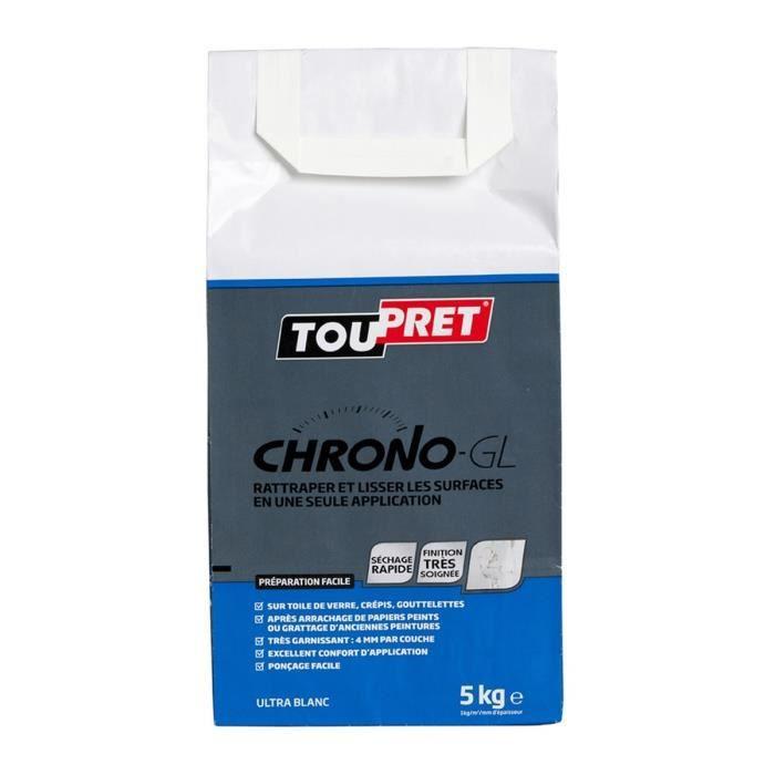 TOUPRET Enduit de lissage Chrono-GL en poudre 5 kg