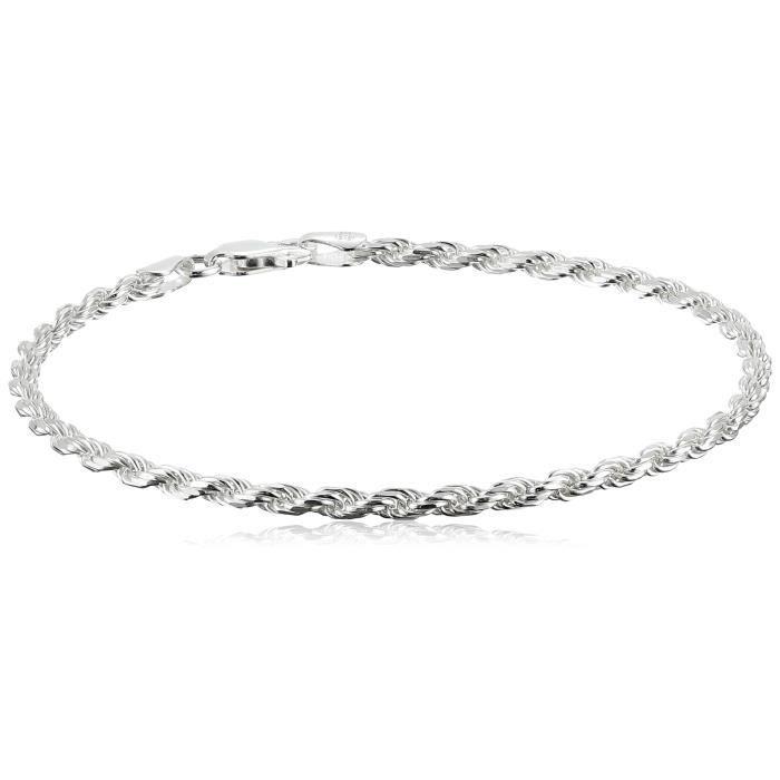 Jewel Panda Bracelet en argent sterling Diamond-Cut