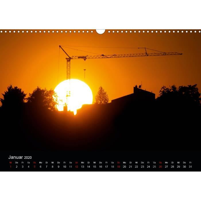 Calendrier Soleil.Coucher De Soleil Et Le Lever Du Calendrier C Croix A3