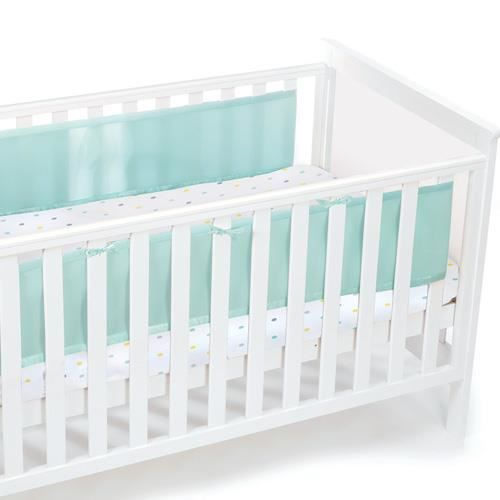 tour de lit uni bébé Tour de lit respirant Aqua, uni   Spécial lit tête et pied pleins  tour de lit uni bébé