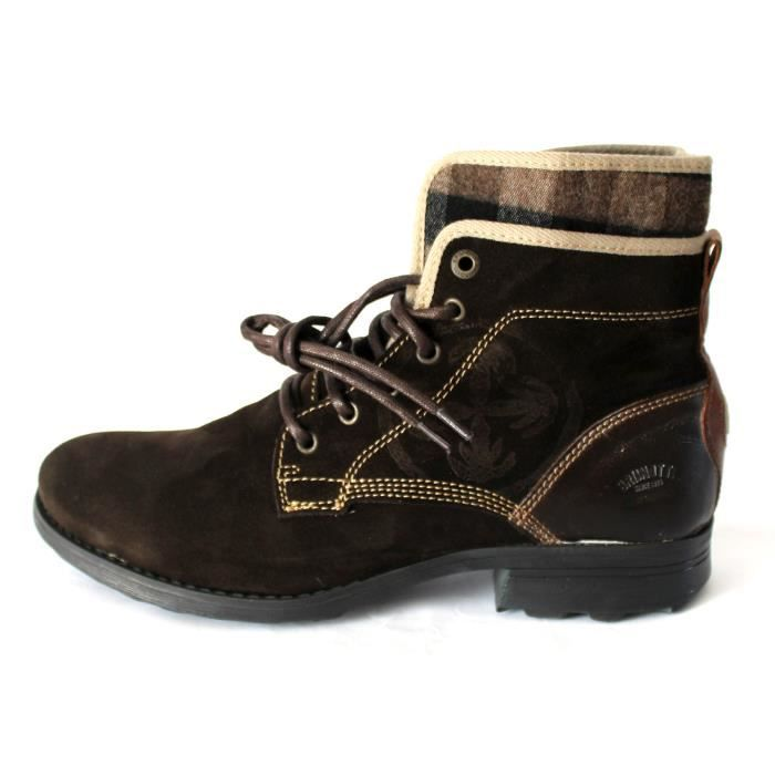 BOTTES BOTTINES CUIR CHAUSSURES HOMME T 43 NEUVES