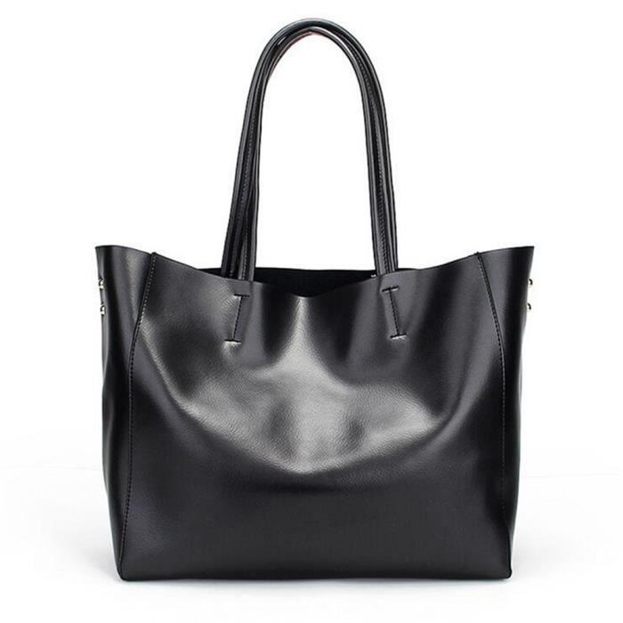 sac femme de marque Sac Cuir Chaine Qualité SupéRieure Extravagant Cartable Femme RéSistantes à LUsure Confortable