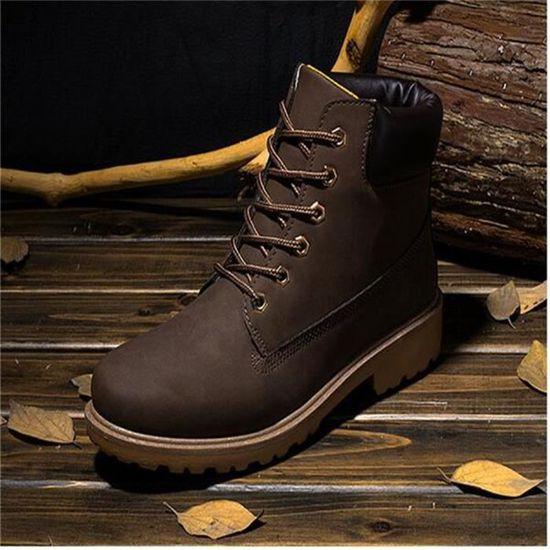 Martin Bottines Homme En Cuir Classique Boots BGD-XZ020Gris41 OYh2D