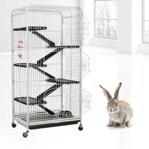 CAISSE DE TRANSPORT Cage de lapin 6 étages fer lapin cage cochon d'Ind