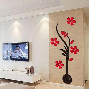STICKERS DIY Décor maison Sticker mural fleur Sticker mirro