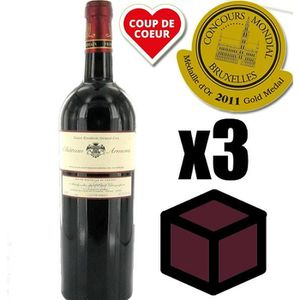 VIN ROUGE X3 Château Armens 2009 Rouge 75 cl AOC Saint-Émili