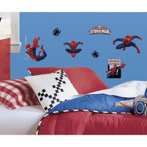 STICKERS SPIDERMAN Stickers Muraux Enfant (4 Planches Repos