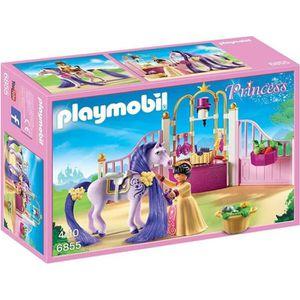 UNIVERS MINIATURE PLAYMOBIL 6855 - Princess - Ecurie avec Cheval à C